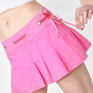 dolls kill sugar thrillz pink skirt